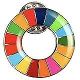 SDGs バッジ sdgsバッチ ピンバッチ (1個) 国連最新仕様 銀色 シルバー表面丸み仕上げ