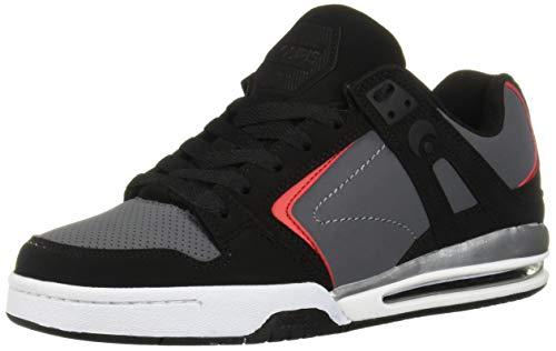 Osiris Pxl Zapatillas de skate para hombre, Multi (Negro / rojo/ negro), 42 EU