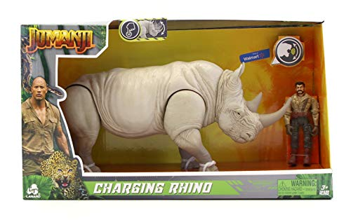 Jumanji - Charging Rhino & Professor Shelly - Sound, Action and Head Movement Figure