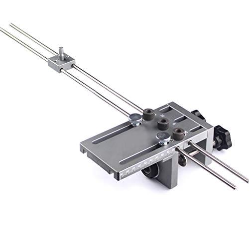 3in1 Bohrschablone, Dowel Jig Dübelvorrichtung mit 6/8/10-mm Spiralbohrer Bohrbuchsen für Holzbearbeitung mit 60mm Verlängerungsstange Dübellochbohrmaschine Selbstzentrierende Dübellochbohrer