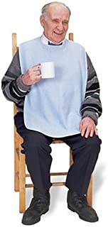"""Priva Extra Long Adult Terry Bib with Protective Waterproof Backing, 18"""" x 35"""""""