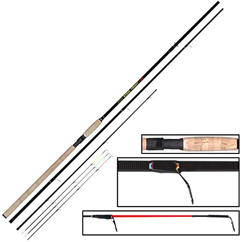 FTM Steel Trout FXR 3,60m 6-25g - Forellenrute zum Sbirolinoangeln, Sbirolinorute zum Forellenfischen, Angelrute für Forelle, Schlepprute für Sbirolinos & Bombarden