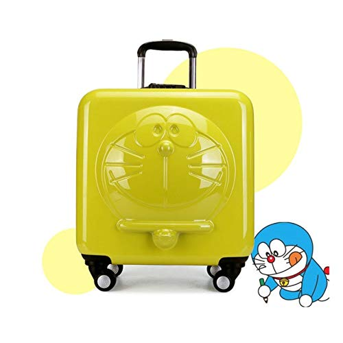 Mdsfe New Children Doraemon Cartoon Luggage 3D   Machine Cat Luggage Rolling Wheels Trolley Suitcase Bag - 18 inch