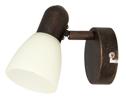 RABALUX Spot, Glas, E14, Antik Braun, 1-flammig