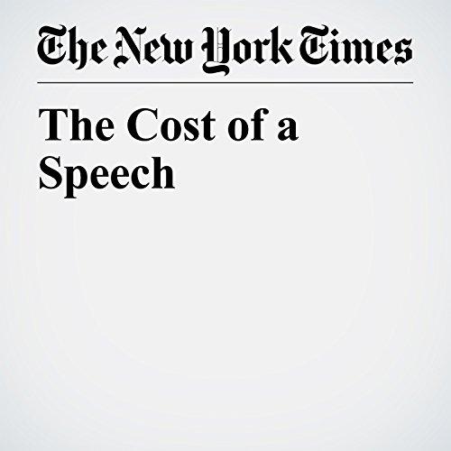 The Cost of a Speech copertina