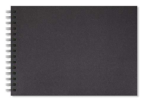 Artgecko Shady Skizzenbuch A4 Landschaft 80 Seiten (40 Blatt) 200gsm säurefrei Black Card