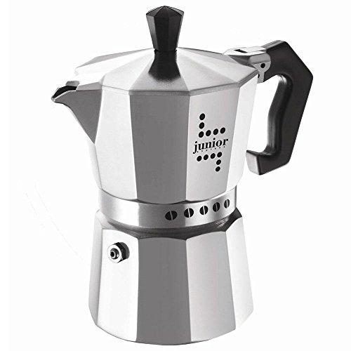 Aeternum Junior Caffettiera Espresso per 6 Tazze, Alluminio, 17 x 10 x 21 cm