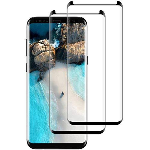 Aspiree Panzerglas Schutzfolie kompatibel mit Samsung Galaxy S8 Plus, [2 Stück] Gehärtetes Glas Bildschirmschutzfolie mit 9H Festigkeit, HD Ultra Klar, Anti-Kratzen, Anti-Öl