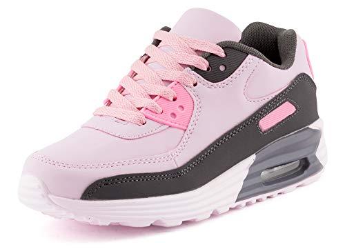 Fusskleidung Unisex Damen Herren Sportschuhe Übergrößen Laufschuhe Turnschuhe Neon Sneaker Schuhe Grau Rosa EU 41