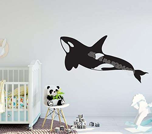 Big Whale Island Wandaufkleber Orca Meereslebewesen Stranddekoration Aufkleber niedlichen Delphin Kindergarten Kinder Baby Bad Poster Wandbild
