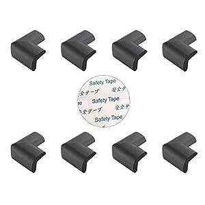 Edge & Corner Guards, 8 Pack – Table Corner Protector, Desk Edge Cushion, Baby Furniture Bumper, Baby Safety Corner Guard, Foam Corner Cover, Fireplace Bumper for Kid, Self Adhesive