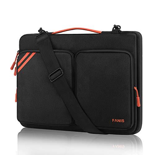 FANIS Bolsa para portátil de 15,6 Pulgadas, Funda para portátil con Correa para el Hombro, Funda Protectora de 360 ° Compatible con MacBook Pro/DELL de 15,6 Pulgadas
