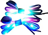 LED Colorful Light Up Shoelaces with Multicolor Flashing Soft Nylon Light Up Shoelace for Party Hip-hop Dancing Cycling Hiking Skating Night Safety Running Various Shoe Laces (colorful)