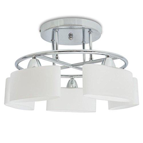 Zora Walter – Lámpara de Techo Ellipsoid, Pantalla de Cristal, 5 Bombillas E14, 200 W, iluminación Interior, Foco de Techo