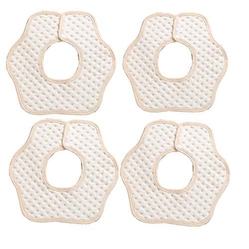 2/4/6 baberos de muselina para bebé, baberos giratorios de 360°, paños de algodón con broches ajustables para niños y niñas recién nacidos para babear y dentición