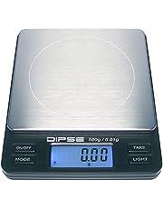 Dipse Digitale laboratoriumweegschaal TP-500 x 0,01 - precisieweegschaal met 0,01 g nauwkeurigheid digitale weegschaal tot 500 g/0,5 kg