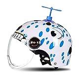 HNLong Caschi per Bambini Moto caschi per Uomo e Donna Protezione Solare caschi-Bianco Dragonfly_52-57cm