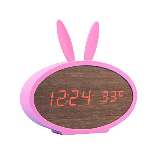 HUA-Alarm klok creatieve digitale wekker van voice control stummen koninch LED cadeau voor kinderen, 21 heldere kleuren naar keuze vrijgesteld