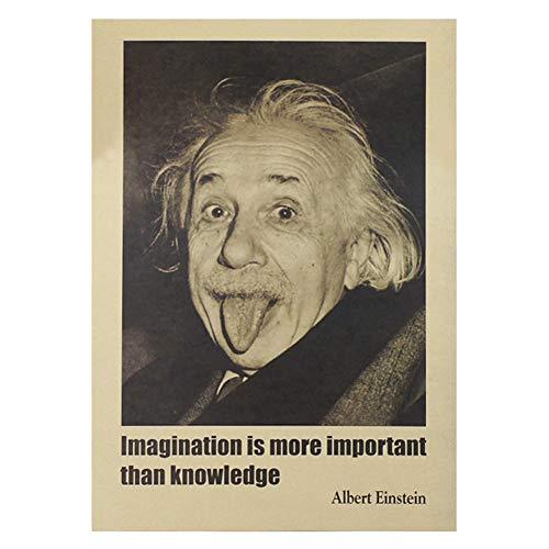 ALTcompluser Retro Motiv Film Poster Promi Wanddekoration Vintage Wandbild Kleinformat Plakat für Wandgestaltung(Einstein)