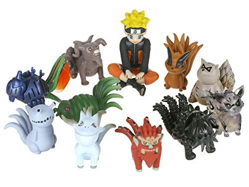 CoolChange Figura de Naruto con 10 Monstruos Biju Chakra