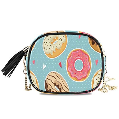 XiangHeFu portemonnee portefeuille tassen grote muntui kleurrijke schattige donuts kaarthouder mobiele telefoon tas