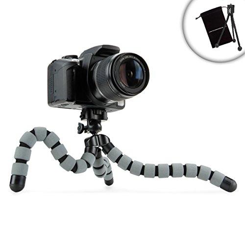 "Accessory Genie FlexGrip 11"" Flexible Leg Adjustable DSLR Tripod Stand with Quick-Release Head for Sony Alpha a5100, 7S, a6000, 7R, SLT A57, A65, A77, A55 and More Digital Cameras"