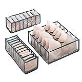 Organizador Ropa Interior Cajones, 3 piezas Juego de Organizador Cajones Ropa...