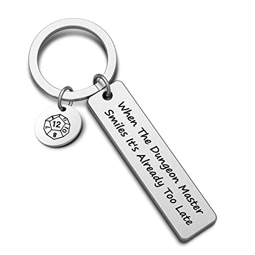 Dungeon Master Gift When The Dungeon Master Smiles It's Already Too Late Dungeons and Dragons Gift Dnd Gift D12 Jewelry(dungeons KR)