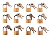 Amtech T0790 Brass Small Padlocks With Keys For Luggage, lockers, Toolboxes, Cupboards, Sports