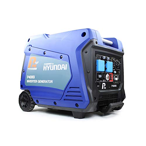 Hyundai P1 Power Equipment 'ECO' P4000i Portable Inverter Generator 3800W, 3.5KW, Engine, Lightweight, Low Noise, Easy Key Start Petrol Generator