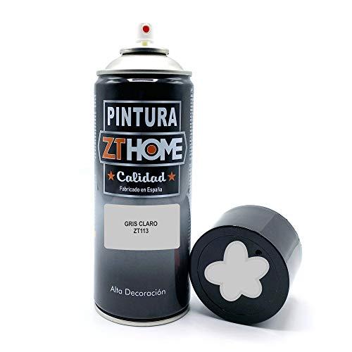 Pintura Spray Gris Claro 400ml imprimacion para madera, metal, ceramica, plasticos / Pinta todo tipo de cosas y superficies Radiadores, bicicleta, coche, plasticos, microondas, graffiti