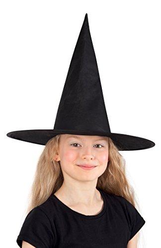 Boland 96919 - Hexenhut Ursula für Kinder, Einheitsgröße, schwarz