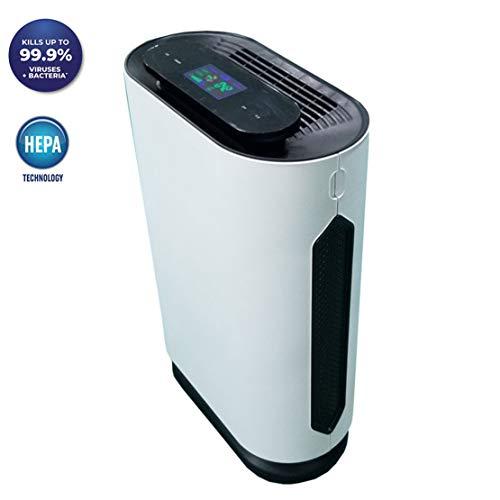 SZKQN Intelligente luchtreiniger voor thuis, luchtreiniger met negatieve ionen, 5-minuten reiniging, luchtreiniger filter voor gezonde ademhaling, stil en comfortabel