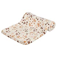Soft fleece and extra soft and cuddly blanket Protects furniture from dirt and pet hair Paw bone design on blanket Available in white/beige colour