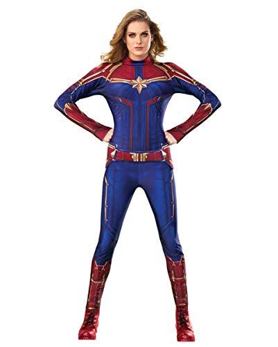 Horror-Shop Captain Marvel Jumpsuit Kostüm Damen als Verkleidung für Halloween und Karneval M