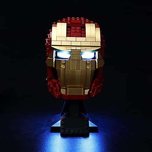 LightTAILING Set di luci per (casco Marvel Iron Man) Building Blocks modello - Kit di luci a LED compatibile con Lego 76165 (non incluso il modello)
