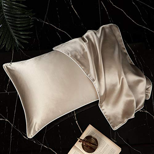 Javco Mulberry Silk Pillowcase Satin Pillowcase 19mmi Blissy Silk Pillowcase 48x74cm Champagne Gold