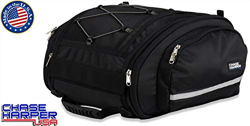 Chase Harper USA 160X Tail Trunk - Water-Resistant, Tear-Resistant, Industrial Grade Ballistic Nylon - Universal Fit with Bungee Mounting System