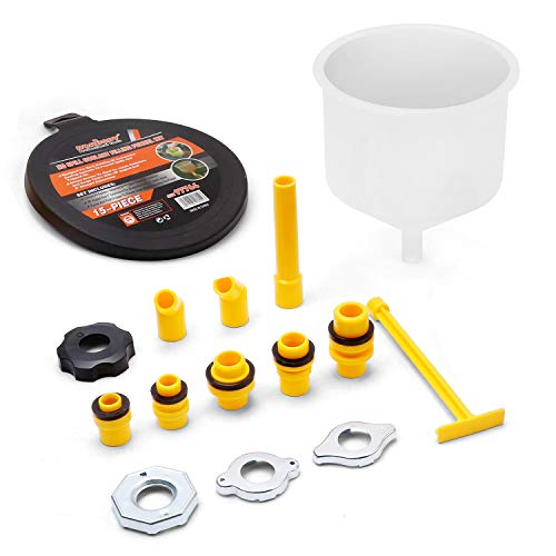 SEDY 15-Pieces No Spill Coolant Filling Funnel Kit, General-Purpose