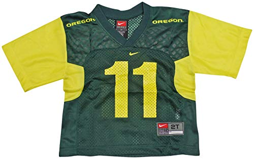 NIKE Oregon Ducks (University of) Kids/Youth College Football Jersey Size 2T Green