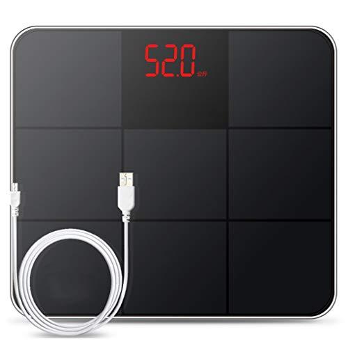 M&M Báscula doméstica con Pantalla LCD Grande Balanza de baño de Peso ultradelgado Básculas de hasta 180 kg Tecnología Step-On Escala de pesaje Recargables for Pacientes for Cocina