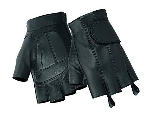 Daniel Smart Fingerless Motorcycle Gloves (L)