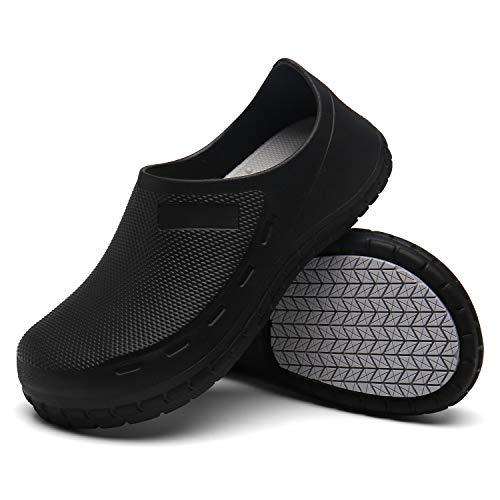 Disrun Non Slip Chef Shoes Oil Resistant Kitchen Work Shoes for Men