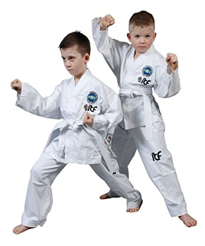 Top Ten niños estudiante ITF Tae Kwon-do Dobok-000/110 cm
