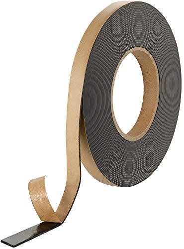 Poppstar doppelseitiges Butyl Klebeband (10m x 15mm x 1,6mm) Dichtband selbstklebend schwarz