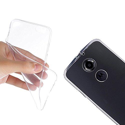 Silikon Hülle Handytasche für Motorola Moto X (2. Generation) (transparent) - EximMobile