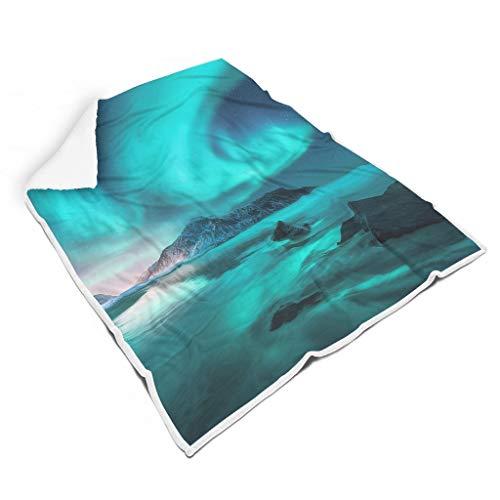 Stormruier Sky Chic - Manta de sofá incolora para dormitorio, cuidadosa mano de obra para todas las personas, estilo casual, color blanco, 60 x 80 pulgadas