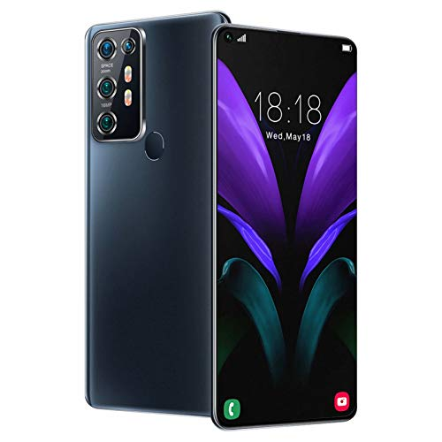 Note30U Smartphone Android 10.0 Dual-SIM-frei entsperrt, Gesichtserkennung, 4800-mAh-Akku, 7,2-Zoll-HD-Bildschirm, 8 GB RAM + 256 GB ROM-Smartphone
