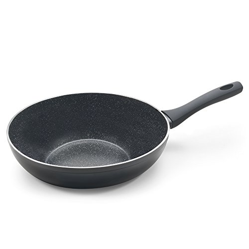 Metaltex NATIVA - Sartén WOK Aluminio Forjado, 28 cm, antiadherente Stone-Tex, Full Induction válido para todo tipo de cocinas