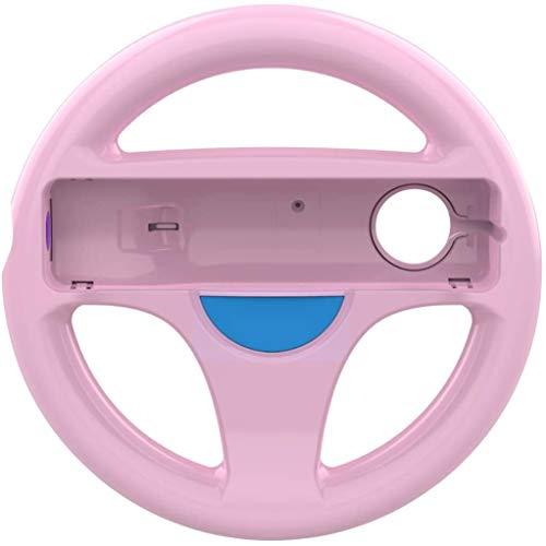 DOYO rosa Wii Lenkrad wii controller für Nintendo wii,Lenkrad Racing Wheel für Mario Kart,Panzer,mehr Wii oder Wii Lenkspiele,Kunststoff Spiel Fernbedienung Spielzubehör